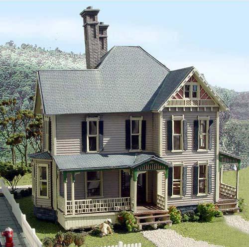 Model Homes: Laser Art Structures HO Farm Building Kits