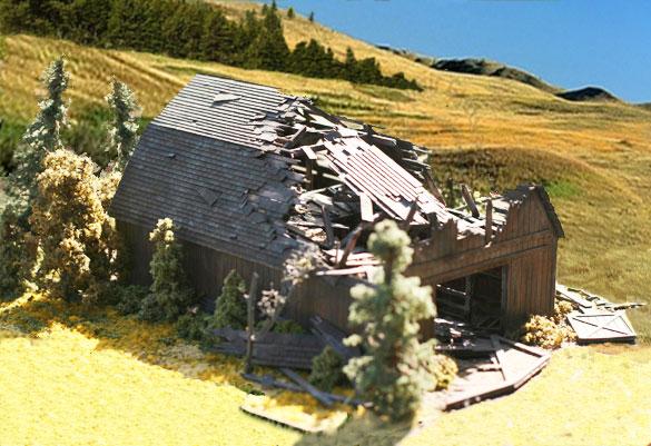 Branchline Trains - Laser Art Structures HO Farm Building Kits