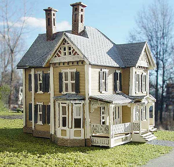 Branchline trains laser art structures ho farm building kits for Victorian style kit homes