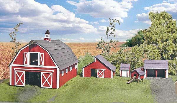 Branchline trains laser art structures ho farm building kits for Farmhouse building kits